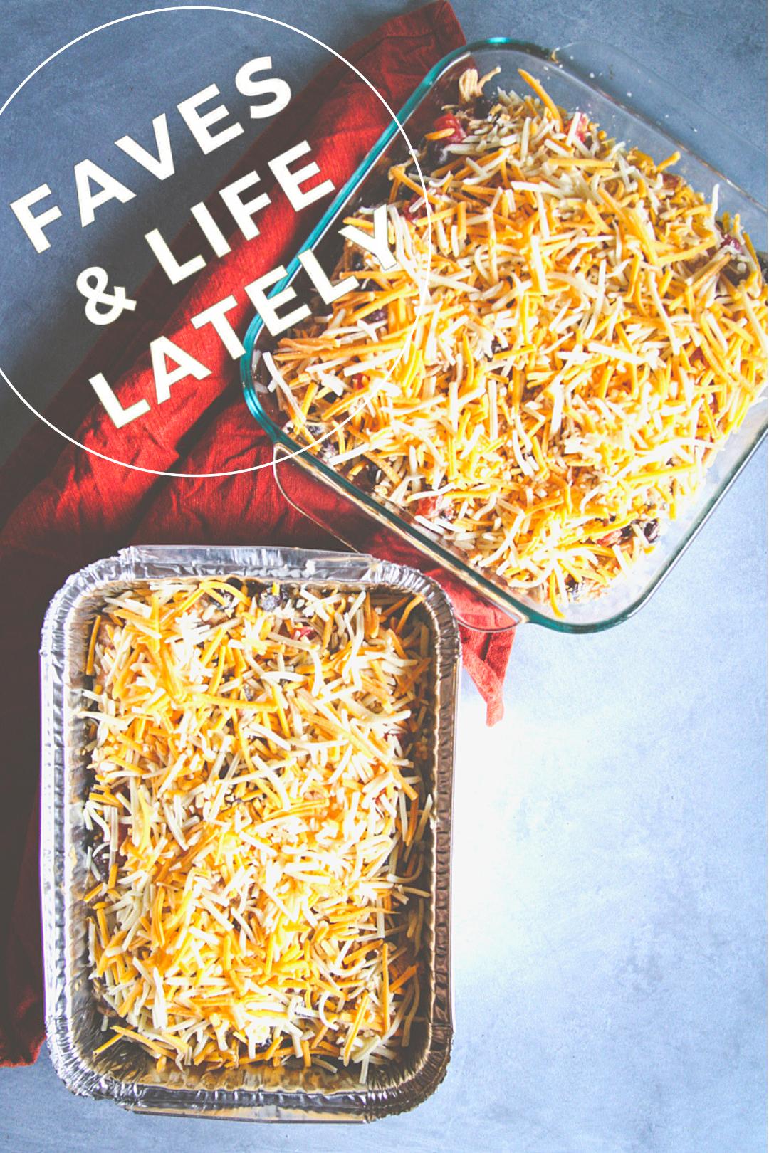 Freezer meal - chicken enchilada casserole casserole, freezer to oven meal, freezer meals for new moms, freezer meals to bring friends in need