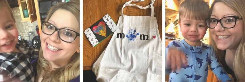 Mothers day gift, mothers day craft with toddler, mothers day apron