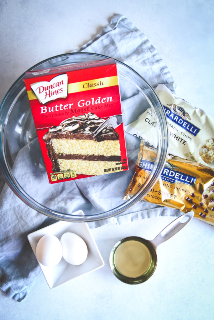 The best ever tuxedo chip cake mix cookies