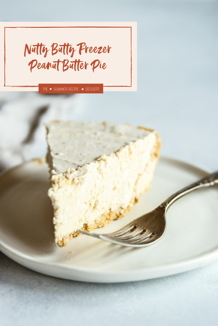 Peanut butter freezer pie, nutty buddy freezer peanut butter pie, no bake peanut butter pie, ice cream pie, peanut butter no bake freezer pie, make ahead dessert, make ahead no bake dessert
