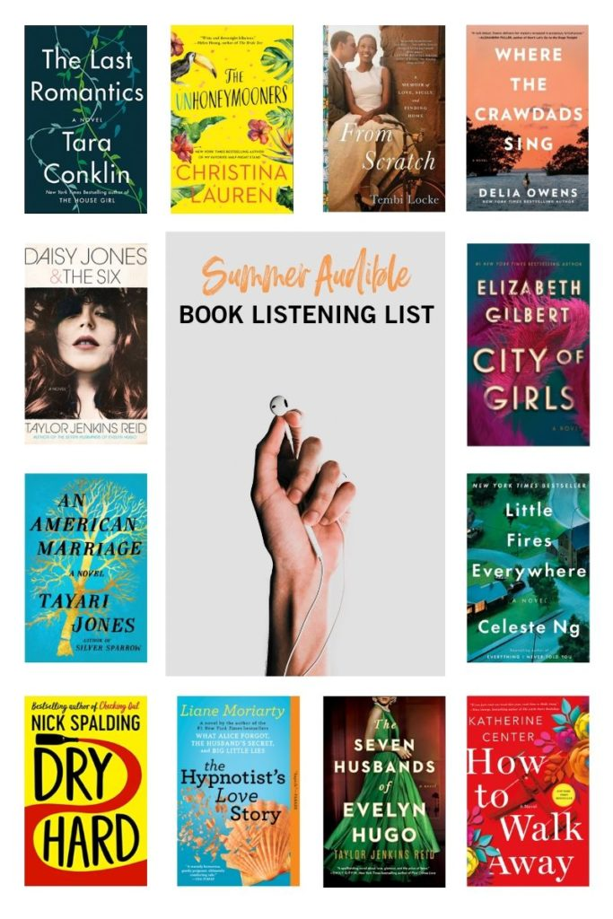 Summer Audible book listening list, summer reading list, best Audible books, Audible summer reading list, summer reading guide