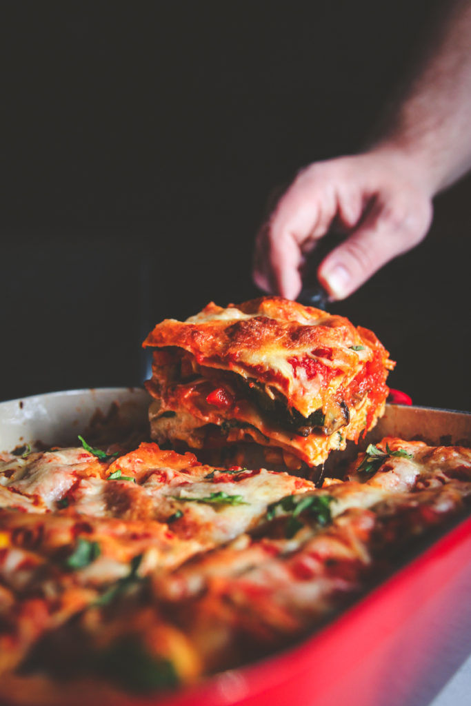The best recipe for roasted vegetable lasagna