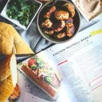Chicken meatball banh mi sandwich, chicken meatball sandwich, Asian chicken meatball sandwich, chicken banh mi, banh mi recipe, healthy banh mi recipe, healthier sandwich, healthy sandwich recipe