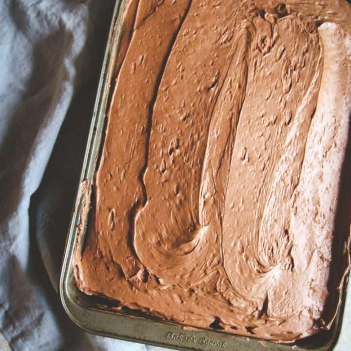 Astonishing Homemade Chocolate Birthday Cake With Frosting Sweetphi Funny Birthday Cards Online Hetedamsfinfo