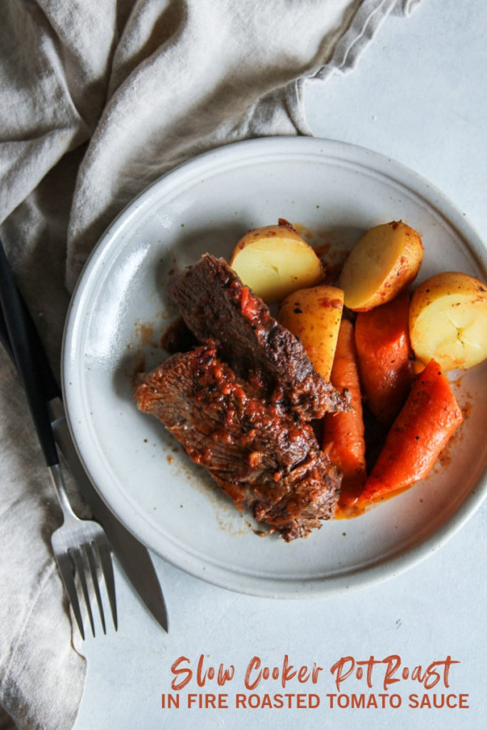 The best slow cooker fire roasted tomato pot roast