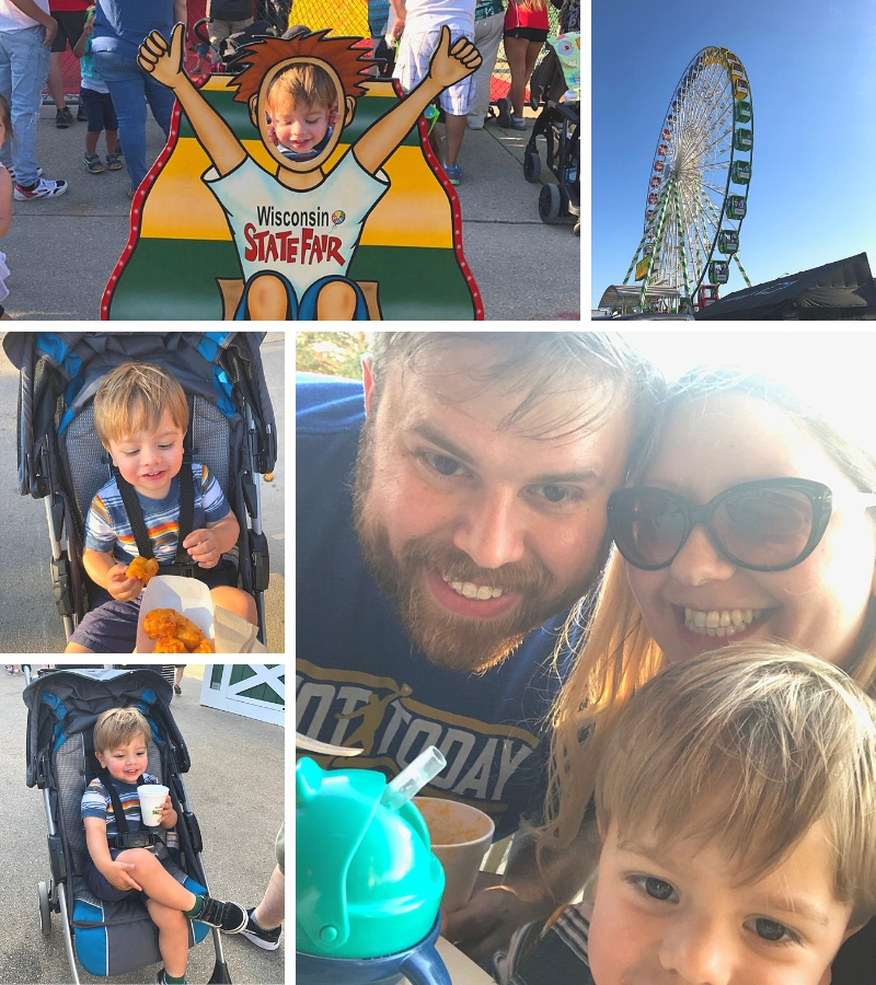 Wisconsin state fair, state fair with a toddler, state fair with a 2 year old