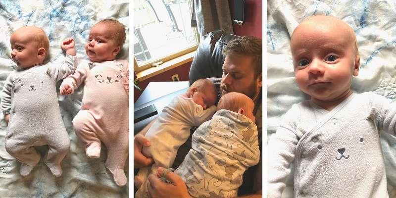 Twins update 6 weeks, 6 week old twins