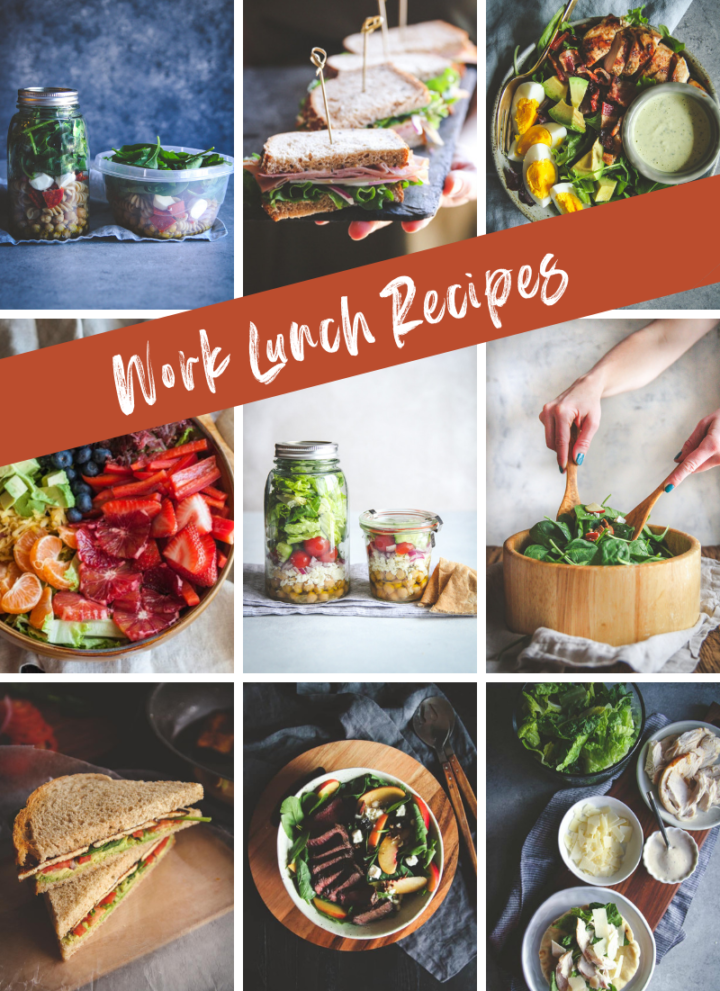 Work lunch recipe roundup, work lunch recipes, work lunch ideas, lunch ideas,