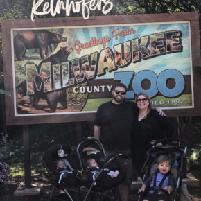 Catching up with the Kelnhofers, family trip to the zoo, family of 5, twins and a toddler
