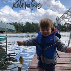 Catching up with the Kelnhofers, baby fishing, fishing with a 2 year old, Up North Wisconsin road trip