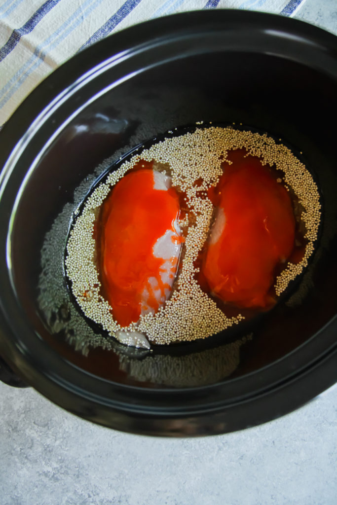The best recipe for slow cooker buffalo chicken and quinoa