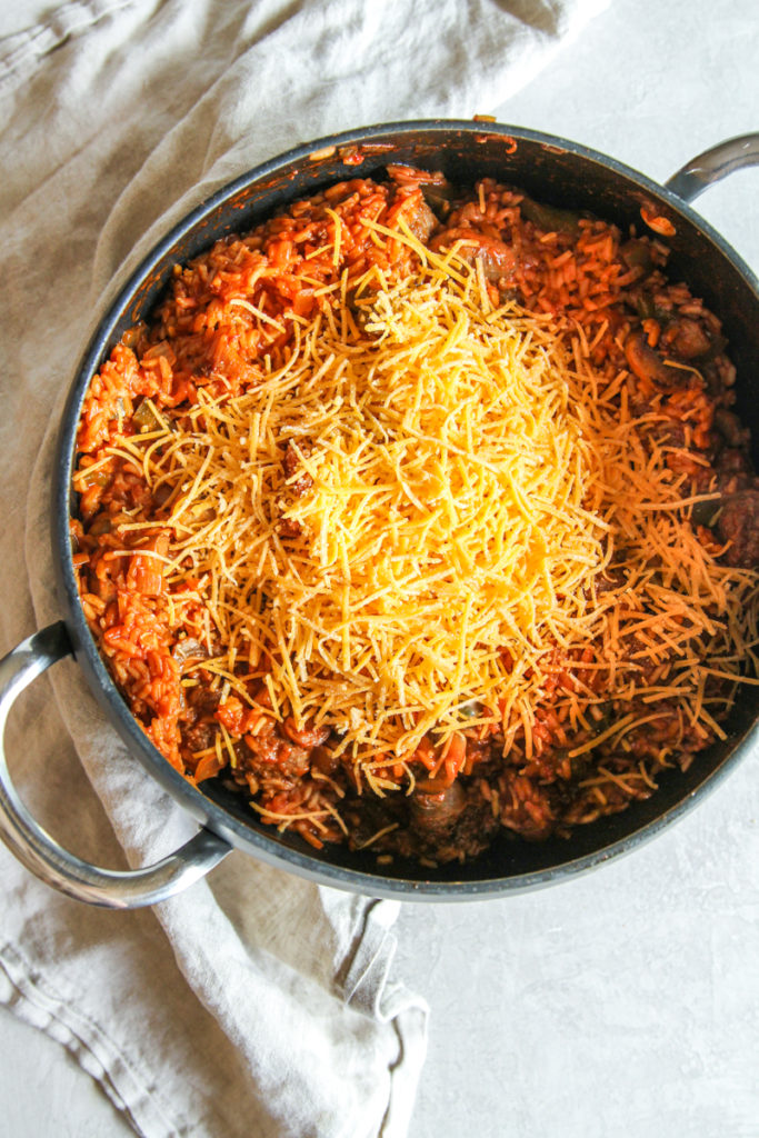 A super tasty and easy sausage and rice casserole