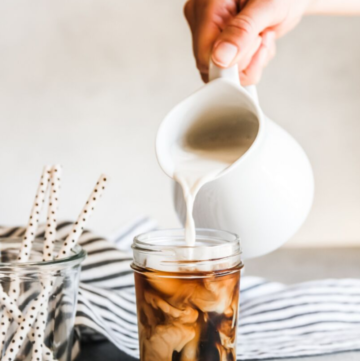 sweet cream iced coffee, iced coffee recipe, sweet cream iced coffee, starbucks vanilla sweet cream copy cat recipe