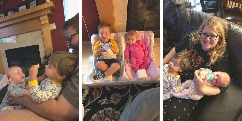 Weekend with the kids, siblings being sweet
