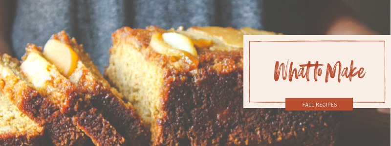 what to make in the fall, apple pear loaf