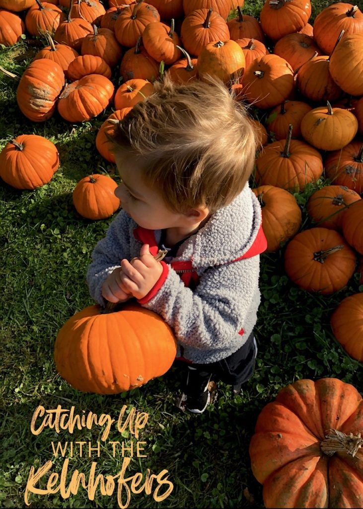 Catching up with the Kelnhofers, pumpkin patch, apple orchard, family of 5