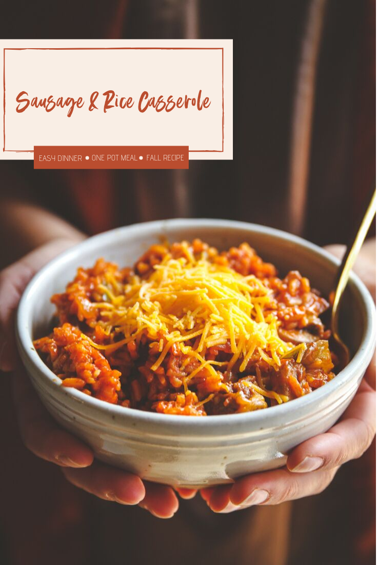 An easy family recipe for sausage and rice casserole