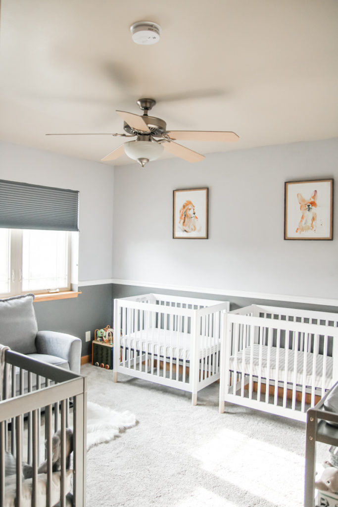 Decor for twins and a toddler sharing a room