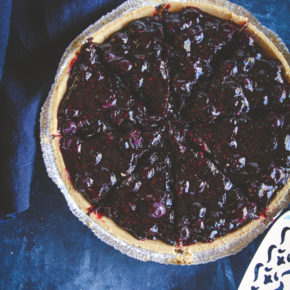 5 Ingredient blueberry pie with graham cracker crust, 5 ingredient dessert