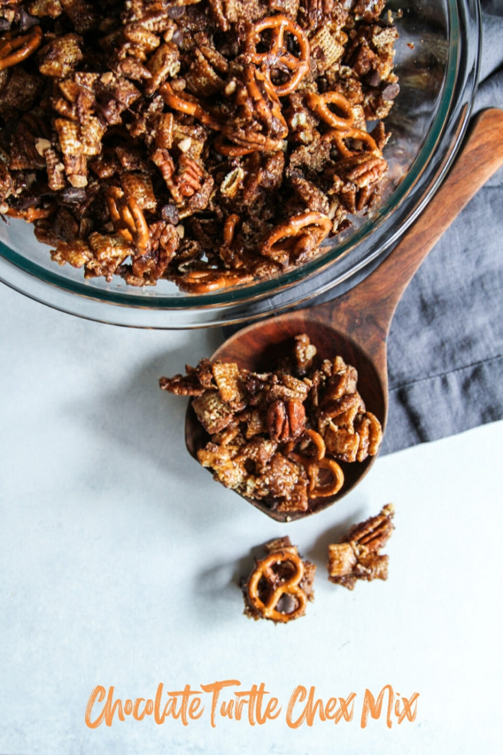 Chocolate Turtle Chex Mix