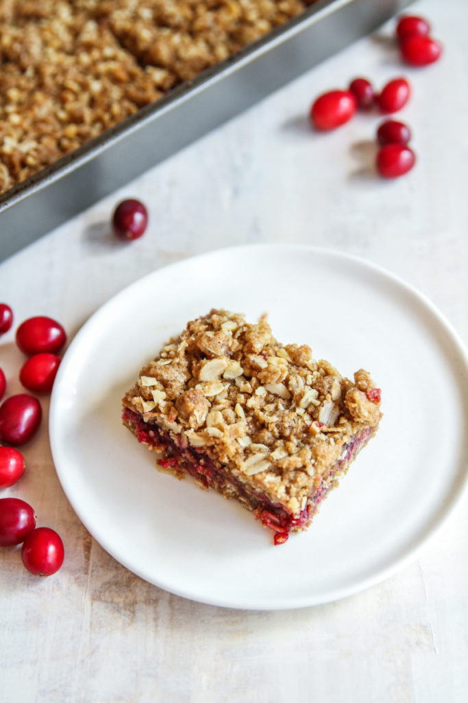 The sweetest and tangy cranberry walnut bars