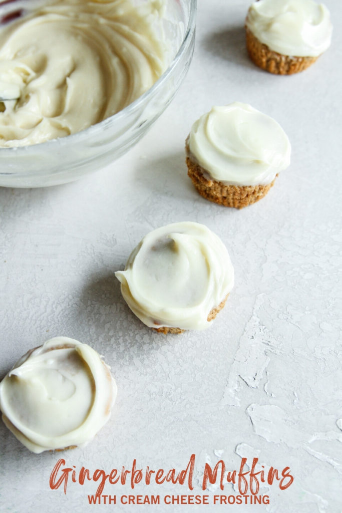 The best gingerbread muffins with cream cheese frosting