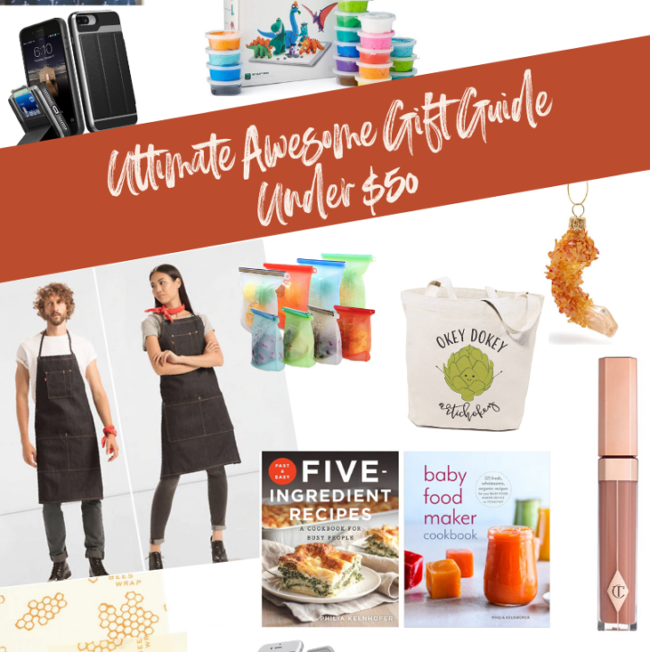 A holiday gift guide roundup filled with awesome gifts for everyone on your list - all under $50