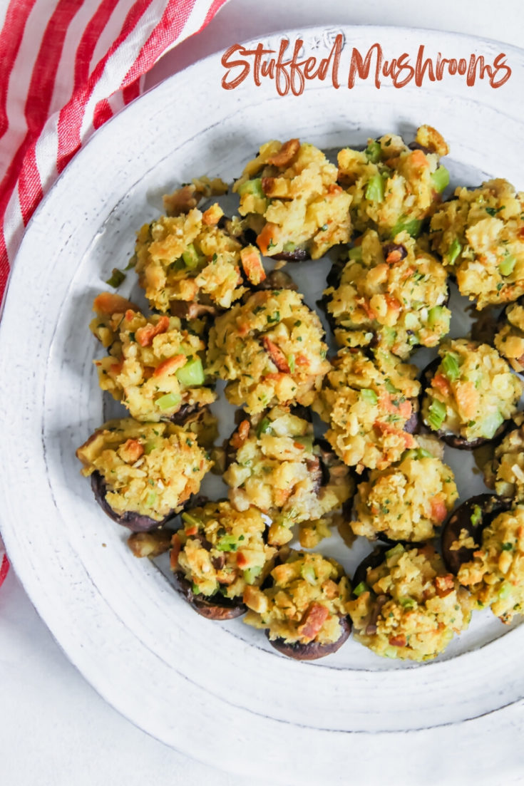 5 Ingredient Stuffed Mushrooms with Stuffing