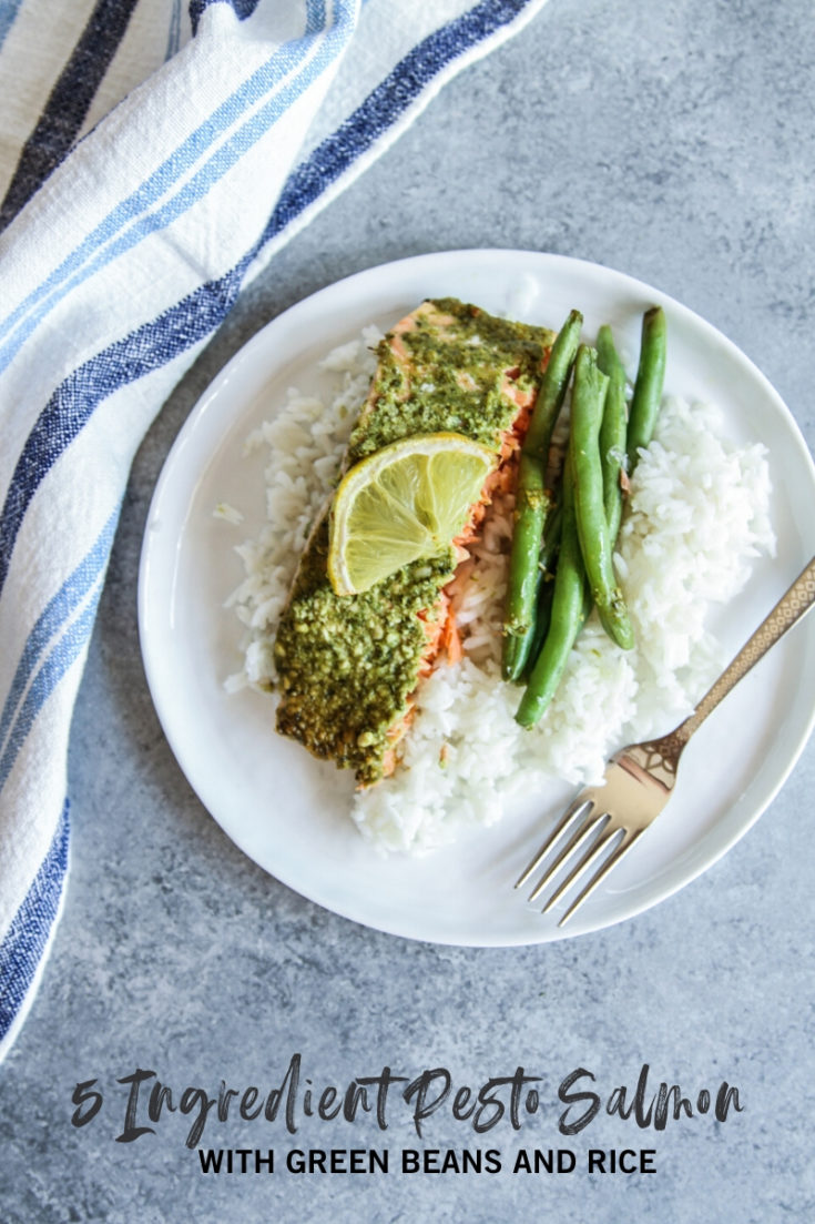 5 Ingredient salmon with green beans and rice