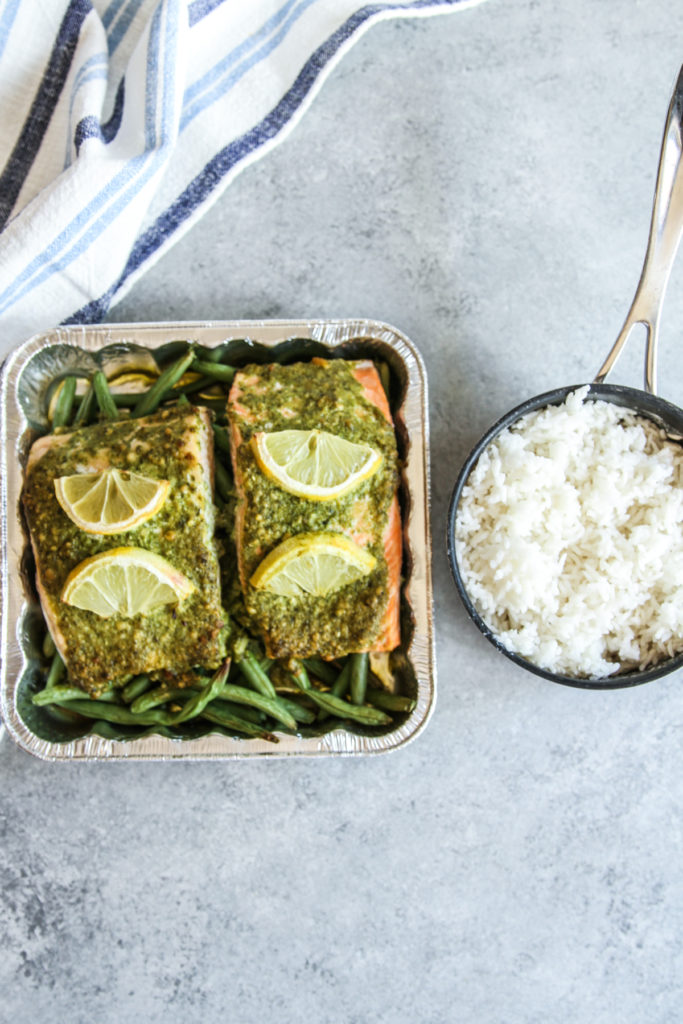 The best recipe for baked pesto salmon