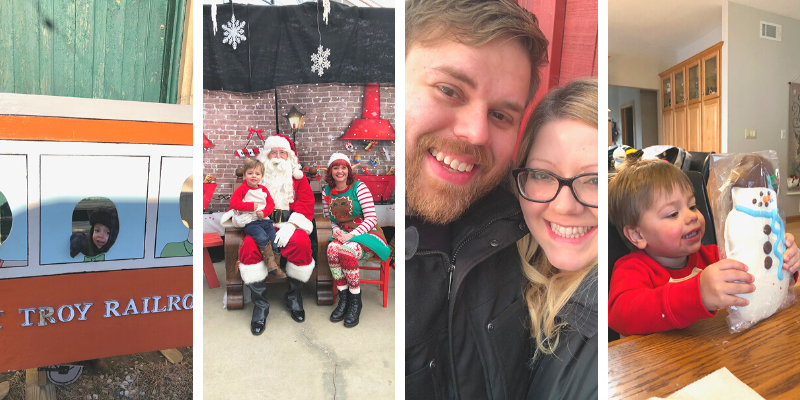 Visiting Santa and a train ride