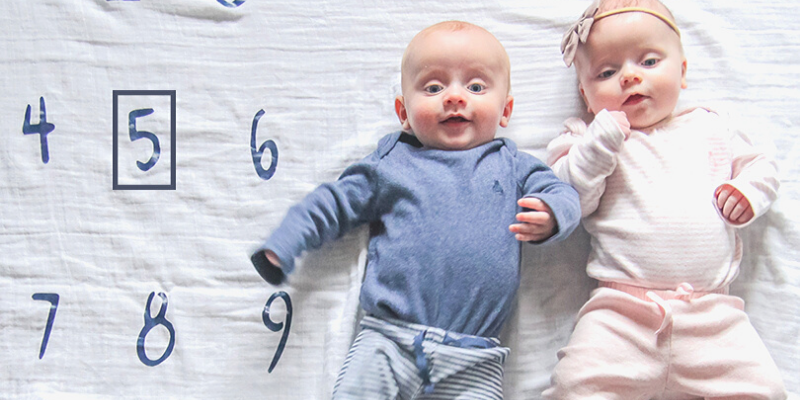 5 month old boy-girl twins