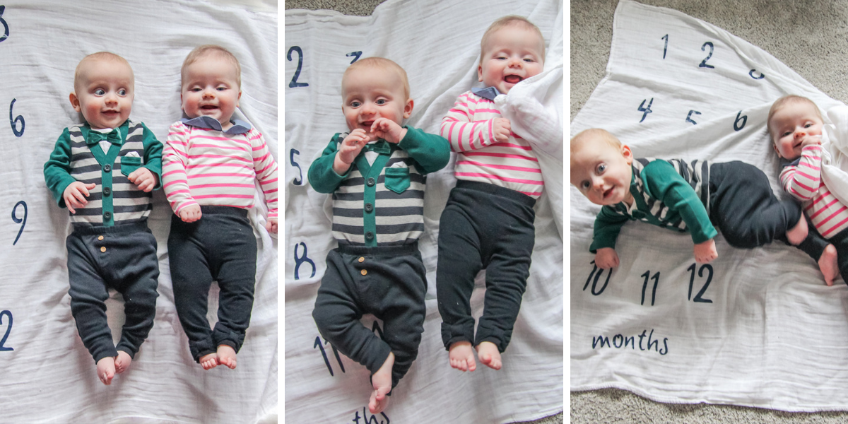 The twins turned 7 months