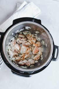 Making Instant pot lemon chicken risotto