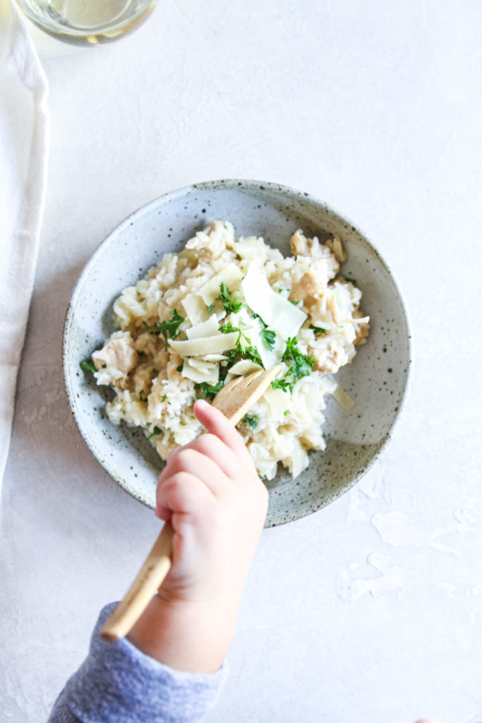 The best tasting Instant Pot lemon chicken risotto