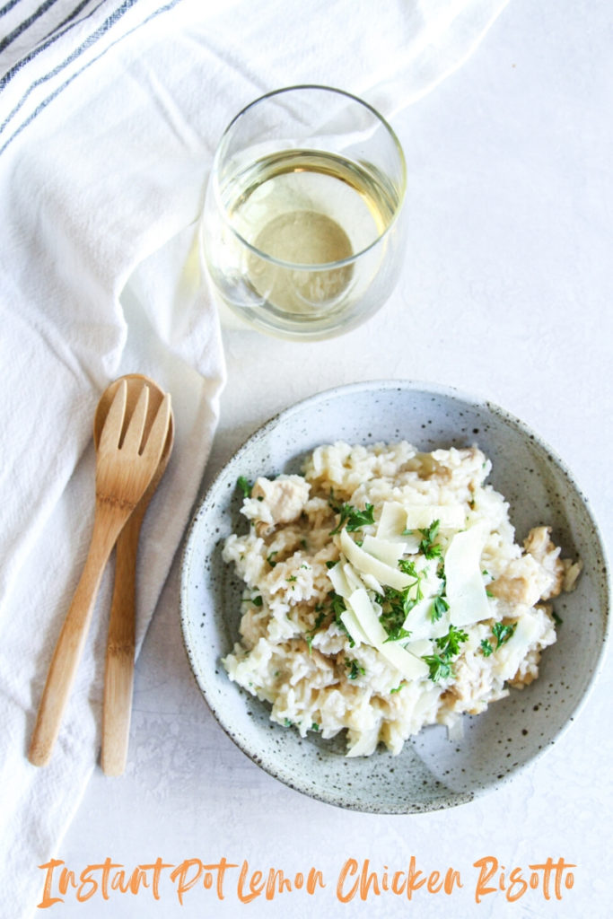 The most delicious instant pot lemon chicken risotto