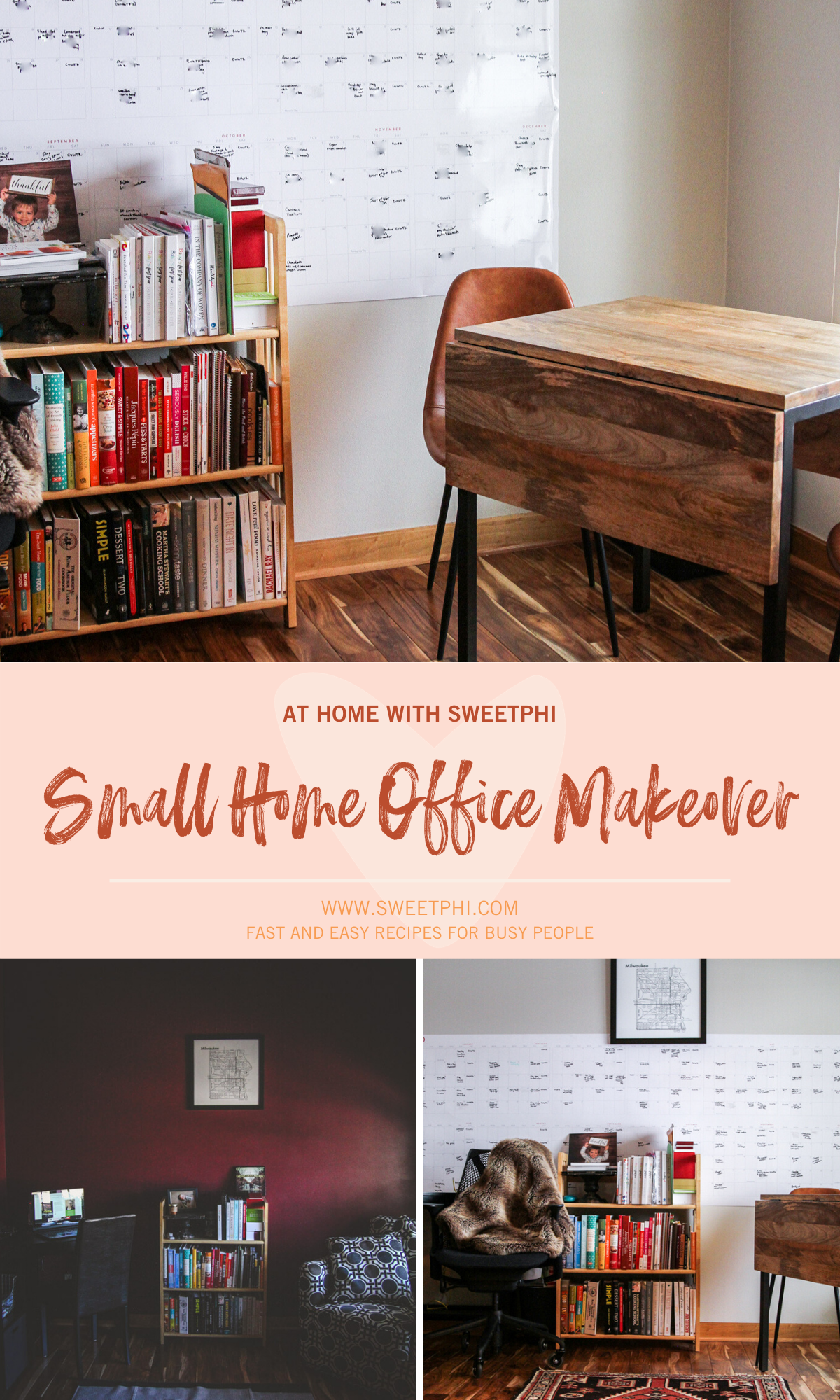 The cutest small home office makeover