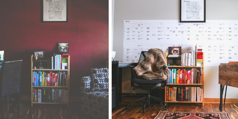 The best before and after small home office makeover