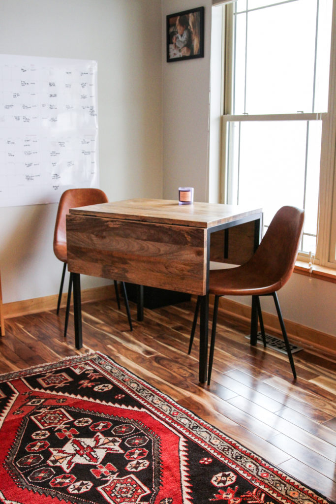 The cutest meeting table in a small home office