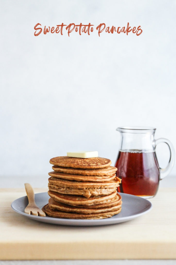 The best sweet potato pancakes made with sweet potato puree