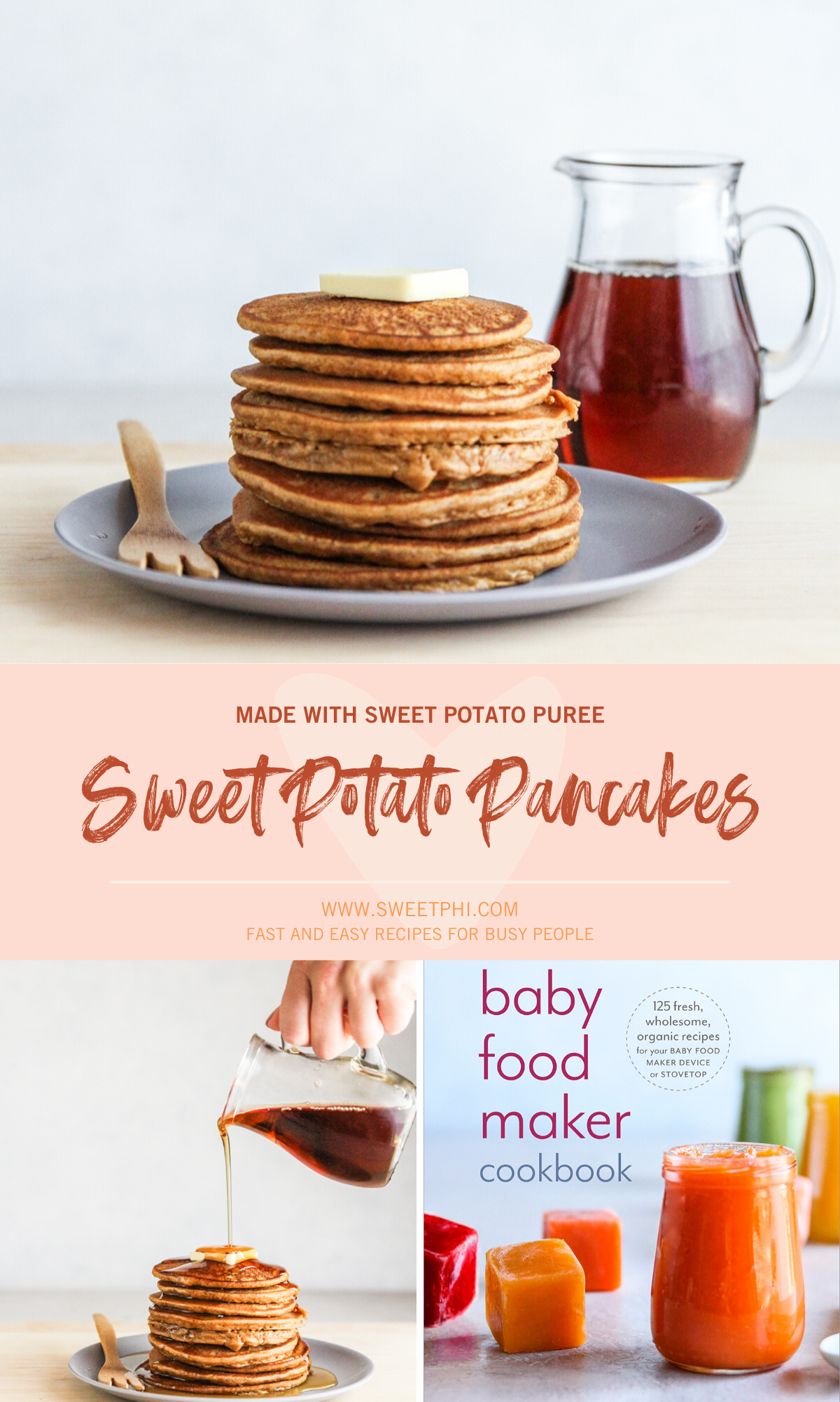 The most delicious sweet potato pancakes made with sweet potato puree