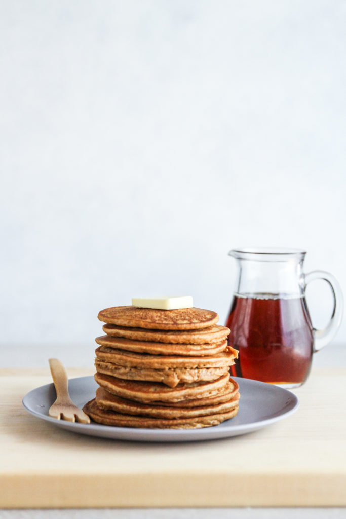 The best healthy sweet potato pancakes made with sweet potato puree