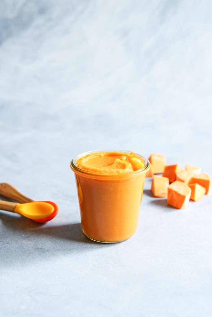 The best baby food sweet potato puree