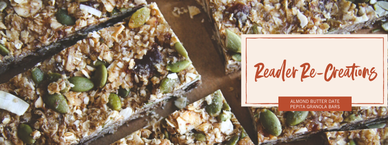 The best almond butter date pepita granola bars