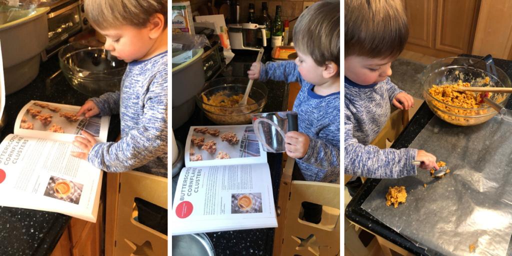 Ben Making Butterscotch Cookies