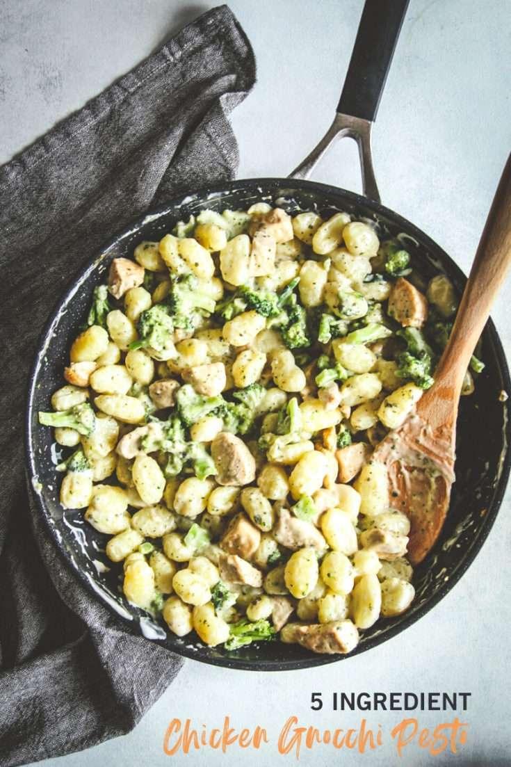 5 ingredient Chicken Gnocchi with Alfredo Pesto