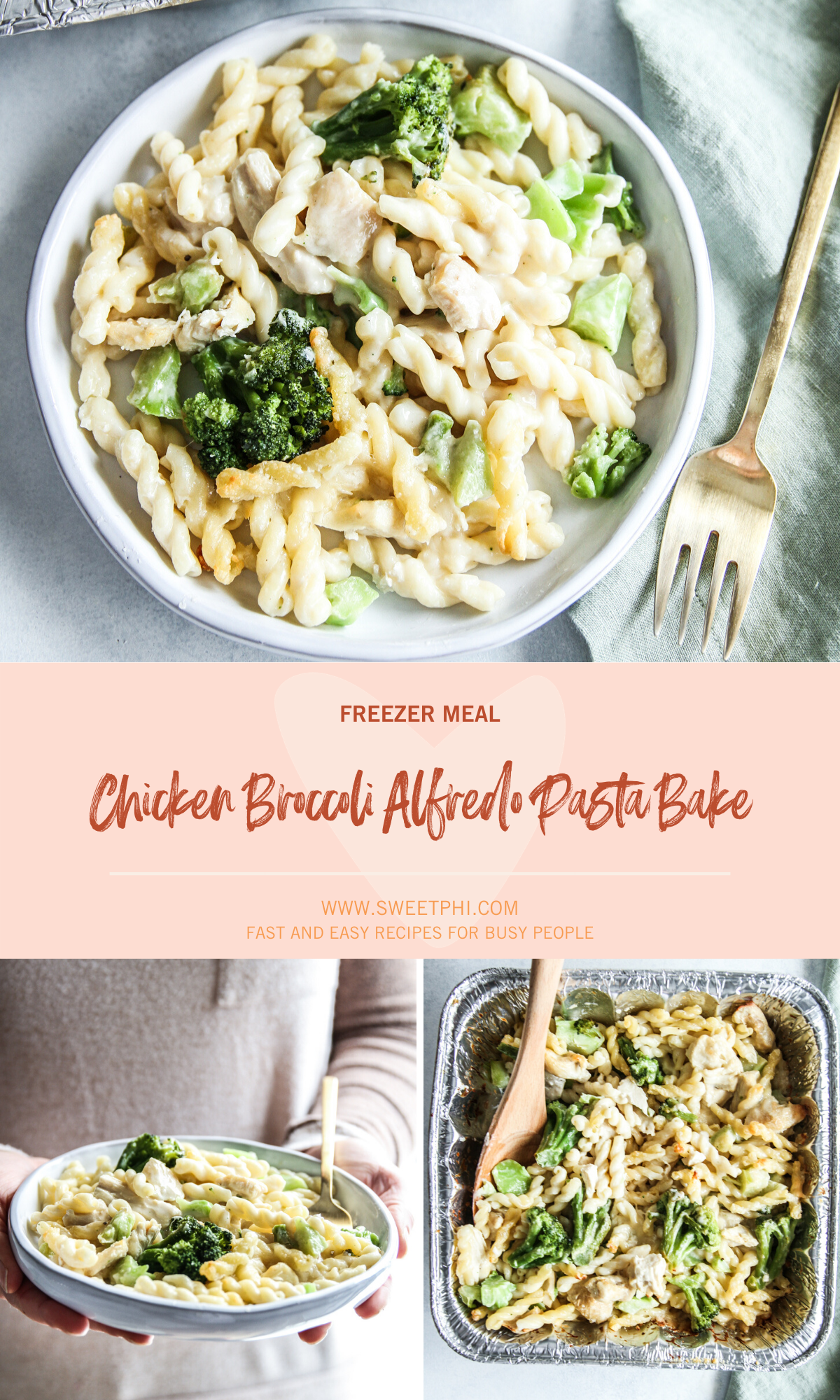 The best tasting chicken Broccoli Alfredo Freezer Meal