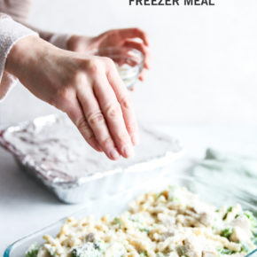 Chicken broccoli alfredo freezer meal