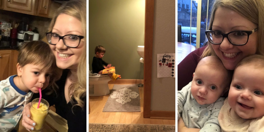 Mornings with twins and a toddler
