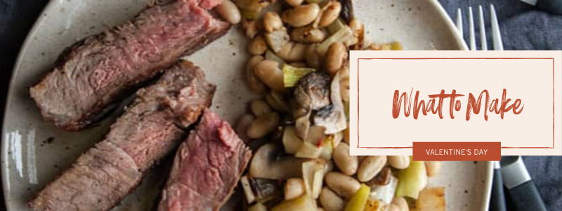 porterhouse steak with a white bean leek mushroom and potato hash